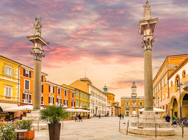 72492073 - the main square in ravenna in italy