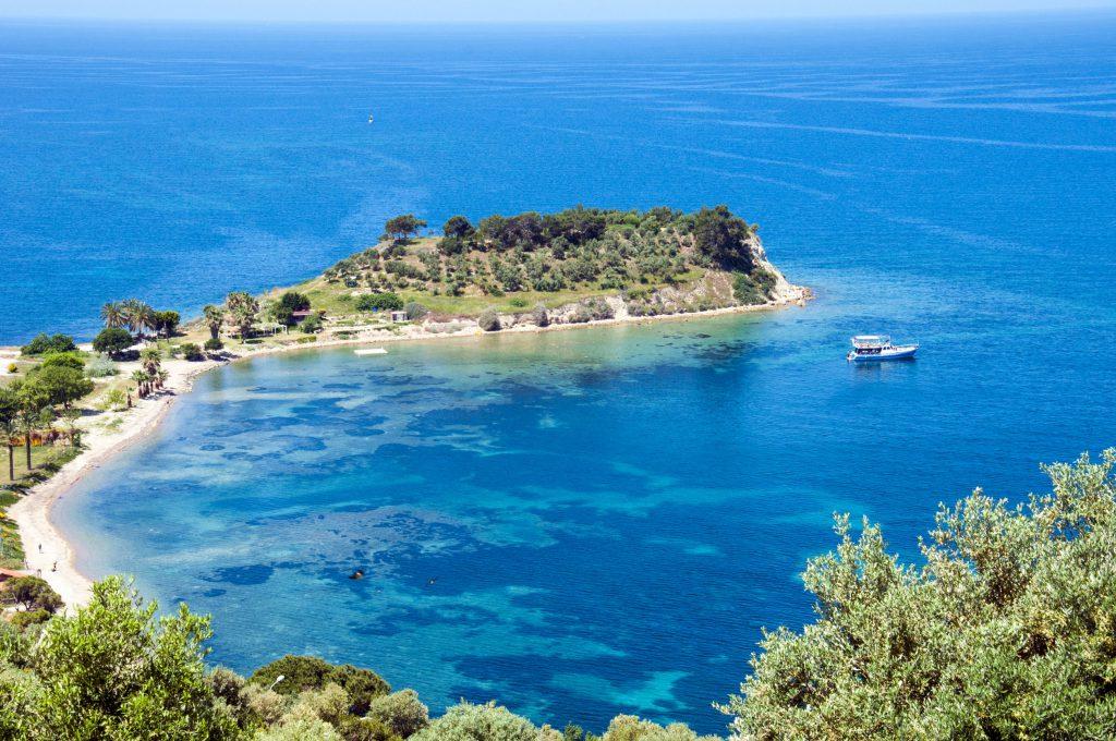 79044313 - kusadasi, bird island on the turkish coast of the mediterranean sea