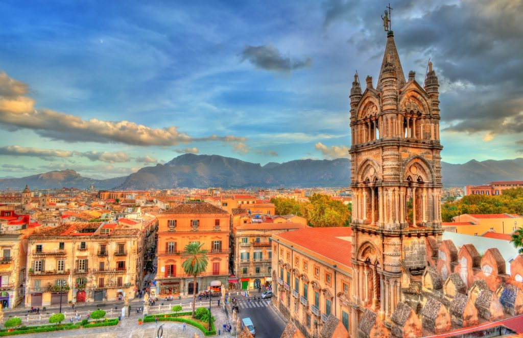 90139390 - palermo cathedral, in sicily, italy