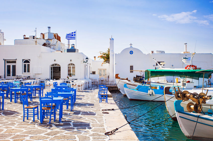 54433617 - greek fishing village in paros, naousa, greece