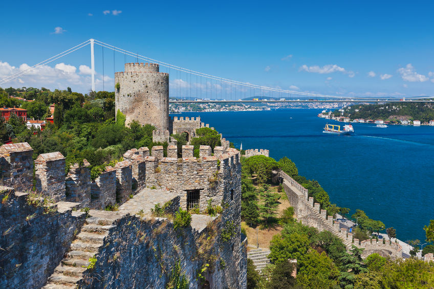41106810 - rumeli fortress at istanbul turkey - architecture background
