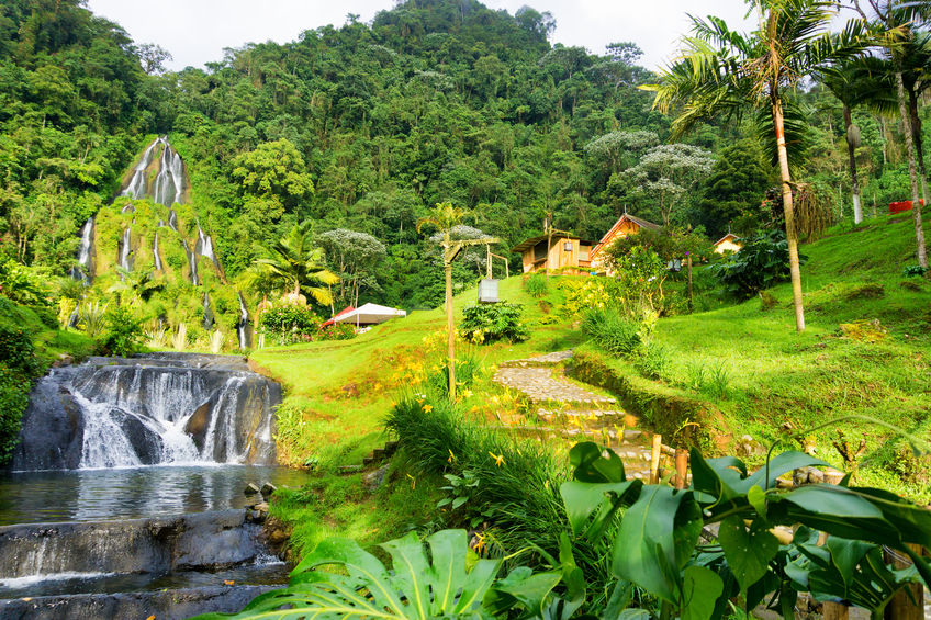 63824641 - view of the hot springs of santa rosa de cabal near manizales, colombia