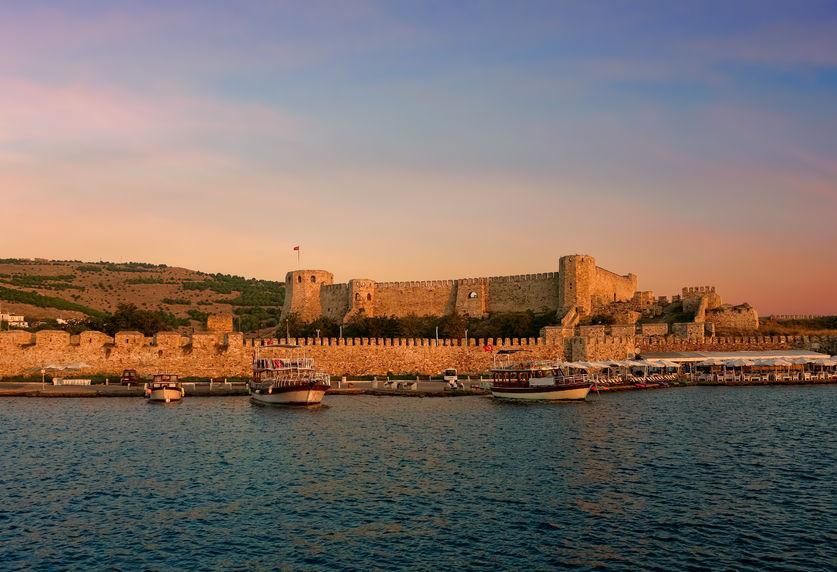 93292552 - ancient fortress in the north aegean island of bozcaada turkey