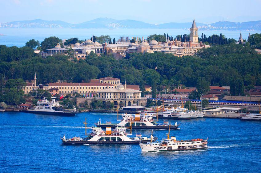 9455498 - topkapi palace before marmara sea, istanbul, turkey