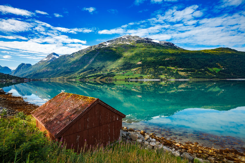 64786703 - beautiful nature norway natural landscape.