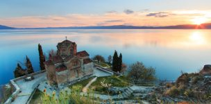 32841278 - sveti (saint) jovan kaneo church on lake ohrid