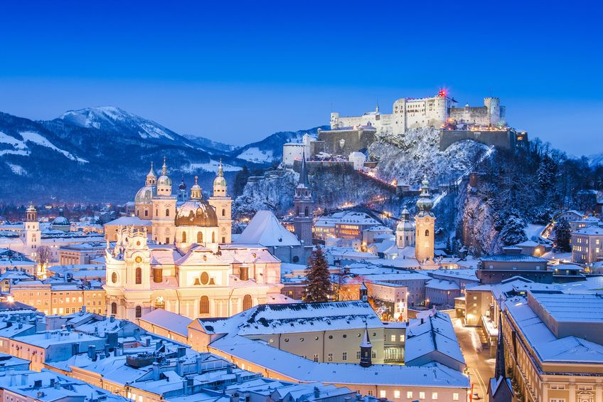 17471253 - city of salzburg, austria in winter