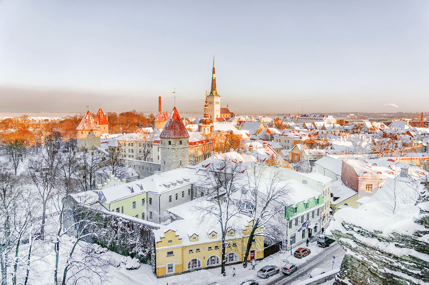 Tallinn panorama winter morning